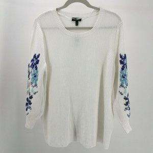 NWT Lane Bryant Womens 26/28 Embroidered Long Slee